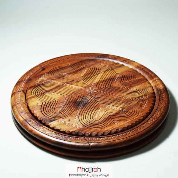 خرید اردو خوری تاشو ( سینی فنری ) چوبی هندی از حجره