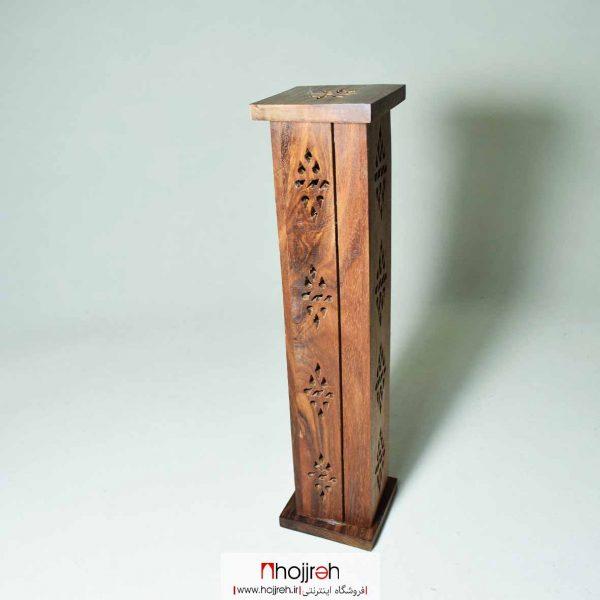 خرید جای عود چوبی ایستاده دست ساز از حجره