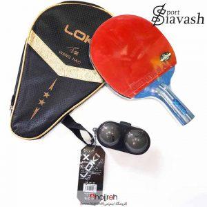 خرید حجره راکت پینگ پنگ حرفه ای مدل لوکی 2 star لوازم ورزشی سیاوش