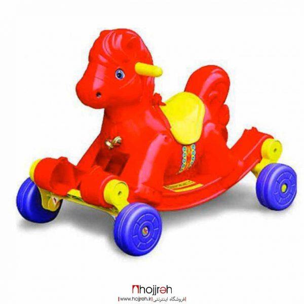 خرید اسب دوکاره چرخ دار و واکر حجره اسباب بازی حمید