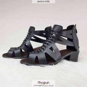 خرید کفش تابستانی دخترانه زیره پیک پشت زیپ مدل جلو حصیری چرم رویه صنعتی درجه یک کیفیت تضمینی از حجره