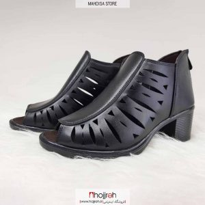 خرید کفش تابستانی دخترانه چرم رویه چرم صنعتی درجه یک کیفیت تضمینی پاشینه ۵ سانت پشت زیپ ۱۱۹ از حجره مهدیسا