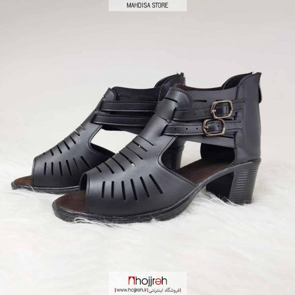 خرید کفش تابستانی رویه چرم صنعتی درجه یک کیفیت تضمینی پشت زیپ بعل دوسگک نما راحت وشیک از حجره مهدیسا