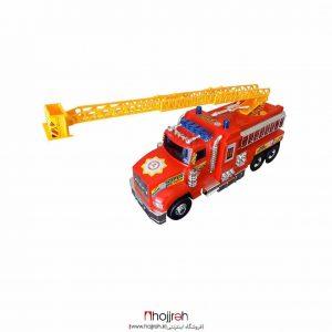 خرید ماشین آتش نشانی درج (بزرگ) ابعاد:52x18x25 سانتی متر بسته بندی دارد جنس:پلاستیکی دارای علامت استاندارد ایران دارای نردبان باز شونده از حجره