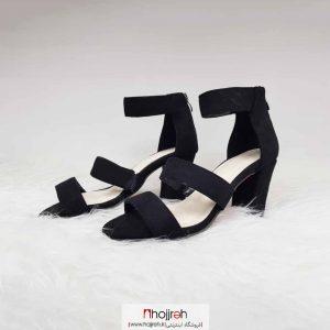 خرید کفش تابستانی زیره دافوس پاشینه ۷ سانت رویه سوییت درجه یک کیفیت تضمینی پشت زیپ حجره مهدیسا ۱۹۹