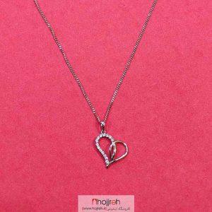 خرید گردنبند استیل طرح قلب حجره دیبا گالری