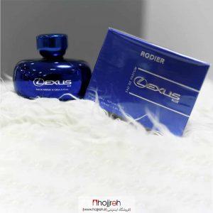 خرید ادو پرفیوم مردانه لکسوس آبی رودیر Lexus Blue حجم 100 میل حجره آرانو