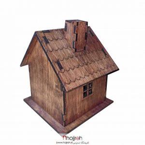 خرید جای عود مدل کلبه چوبی دودکش دار عود مخروطی از حجره