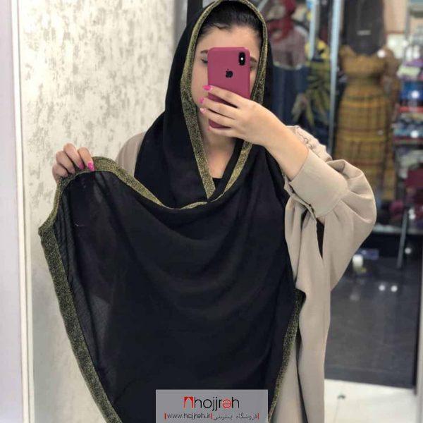 خرید شال نخی وال دور حاشیه لمه از حجره