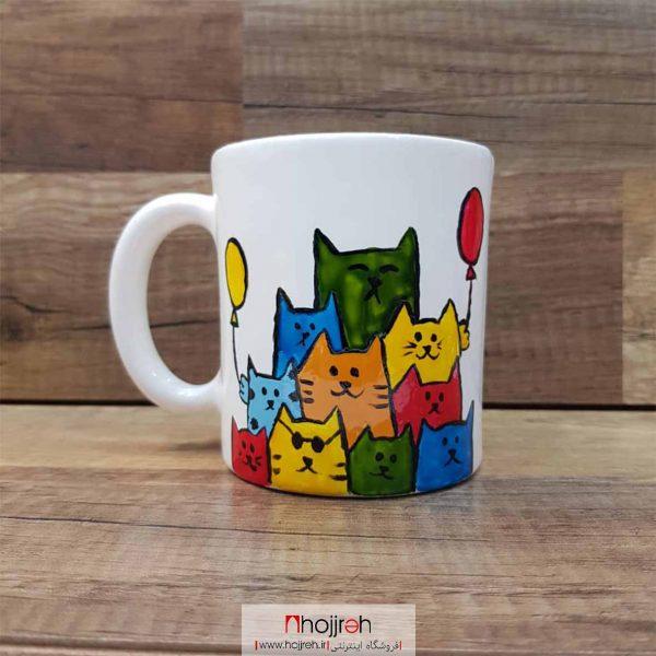 خرید ماگ سرامیکی طرح گربه های رنگی حجره مونا آرت