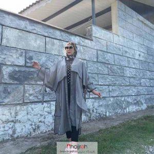 خرید مانتو نازلی آستین پاپیون حجره آلبا شاپ