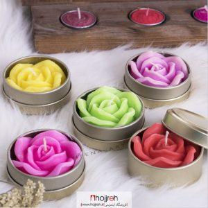 خرید شمع قوطی گل رز حجره هیینا آرت