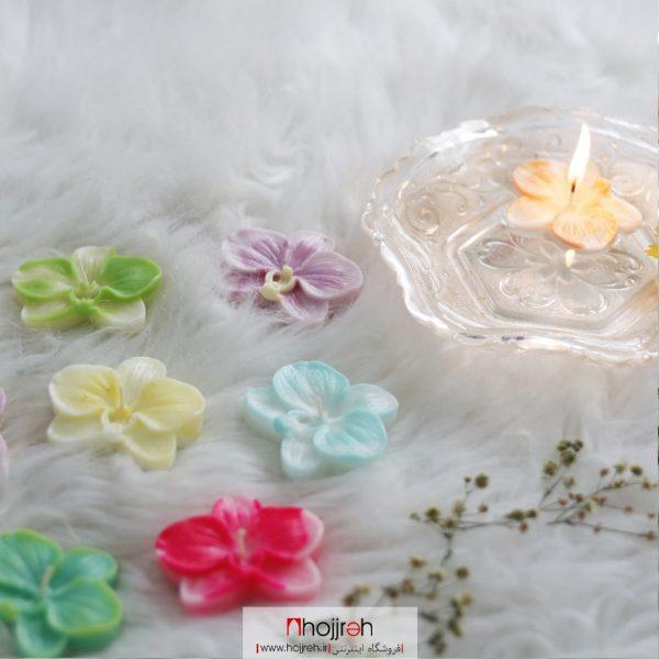 خرید شمع گل ارکیده حجره هینا آرت