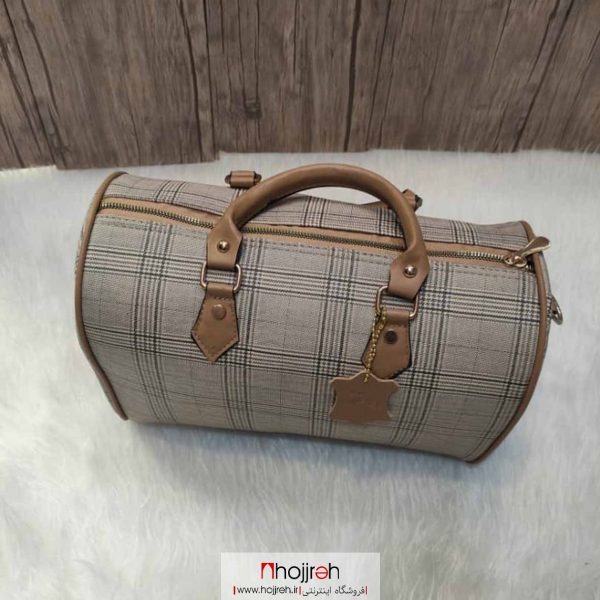 خرید کیف صندوقی زنانه طرح چهارخونه حجره روشا گالری