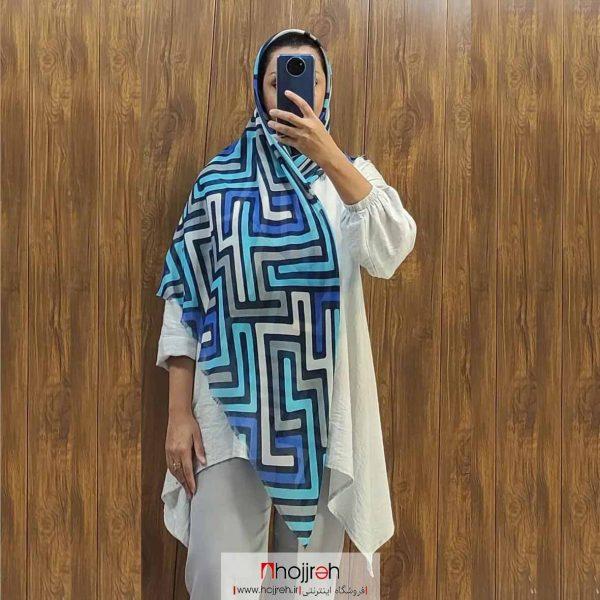 خرید روسری نخی طرح دار حجره روشا گالری