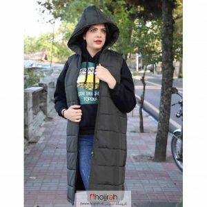خرید پافر کلاه دار و زیپ دار حجره آلبا شاپ