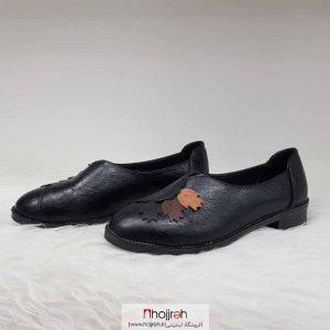 خرید کفش زنانه چرم طرح برگ از حجره