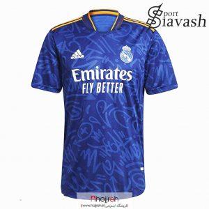 خرید لباس فوتبال رئال مادرید رنگ آبی از حجره