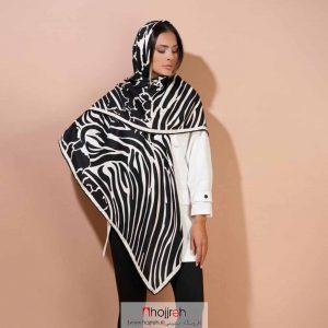 خرید روسری نخی کشمیر دست دوز طرح دار حجره دیبا گالری