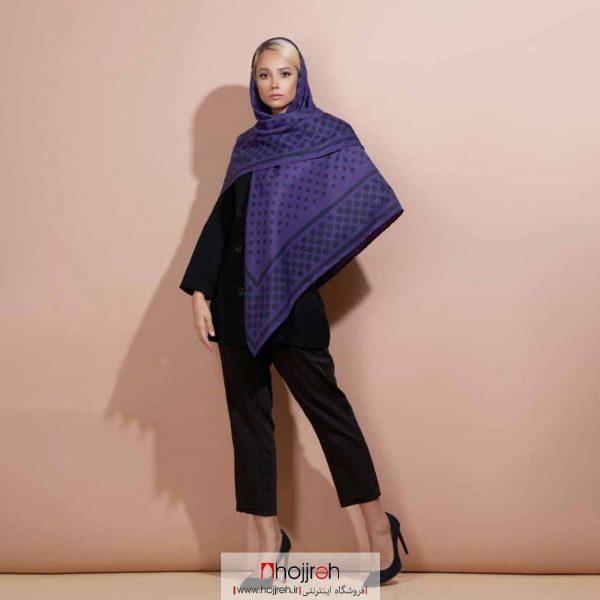 خرید روسری نخی کشمیر دست دوز طرح توپی حجره دیبا گالری