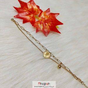 خرید دستبند استیل طرح سکه ای ملکه الیزابت حجره دیبا گالری